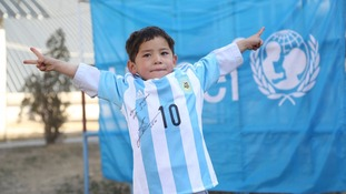 Lionel Messi sends signed shirt to boy in plastic bag