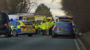 The crash on the A595.
