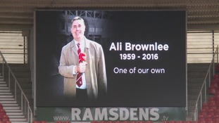 Boro fans pay respect to Ali Brownlee on his final visit to the Riverside stadium