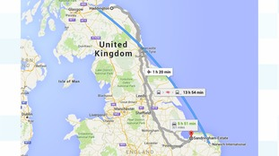 Distance between Sandringham and Haddington