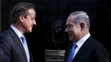 Prime Minister David Cameron and Israeli Prime Minister Benjamin Netanyahu outside 10 Downing Street last September.
