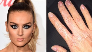 Perrie Edwards 'set on fire' after boiler blows up