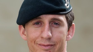 Serjeant Deacon Cutterham of The Rifles who is to receive the Conspicuous Gallantry Cross.
