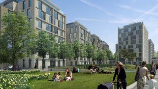 An artist's impression of the finished development.
