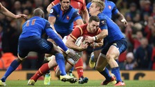 George North scores opening try in Wales' Six Nations match against France