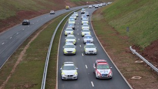 Police cars take to new South Devon Highway