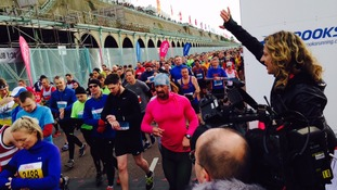 Thousands compete in Brighton half marathon