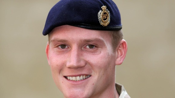 Sapper Benjamin McMurray from the Royal Engineers.