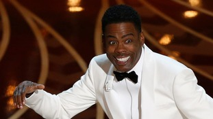 Host Chris Rock opens the 88th Academy Awards.