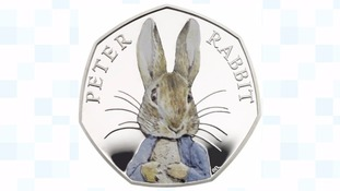 Peter Rabbit to become first children's character to appear on a UK coin, in honour of Beatrix Potter