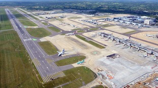 Runway at Gatwick closed to all flights because of spillage.