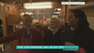 Woman's Leap Year proposal to boyfriend... live on TV