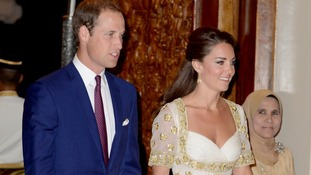 The Duke and Duchess of Cambridge attend an official dinner given by His Majesty, The Yang di-Pertuan Agong at his official residence