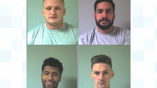 From top left: Westley Seddon, 25, Steven Anderson, 33, Ashley Hibbert, 22, Shaun Boardman, 27