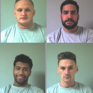 From top left: Westley Seddon, 25, Steven Anderson, 33, Ashley Hibbert, 22, Shaun Boardman, 27