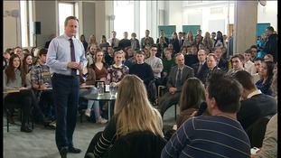 David Cameron visits Suffolk to tell students why they should vote to stay in the EU