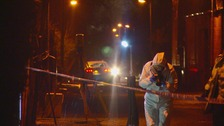 Forensic teams are at the scene in Ashton-under-Lyne