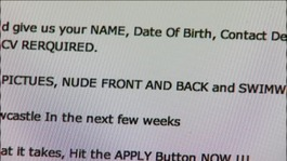 The advert asked applicants to send in naked pictures with their CV