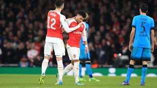 Arsenal midfielder Alex Oxlade-Chamberlain set for up to two months out injured