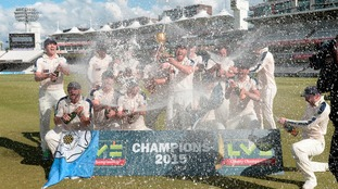 The club have won the County Championship for the last two years