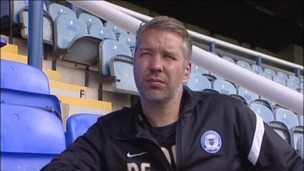 Peterborough United manager Darren Ferguson