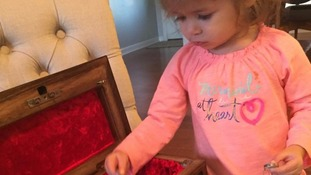 Daughter receives gift from fallen father