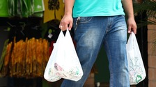 The 5p charge for plastic bags was introduced in England in October