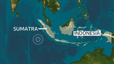 The earthquake struck off the coast of Sumatra