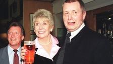 Tony Warren with Corrie legends Michael Vernon and Liz Dawn