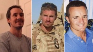 (left to right)Lance Corporal Edward Maher, Corporal James Dunsby and Lance Corporal Craig Roberts.