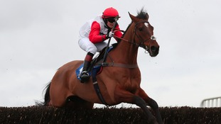 Victoria Pendleton on her way to her first race win as a jockey this afternoon