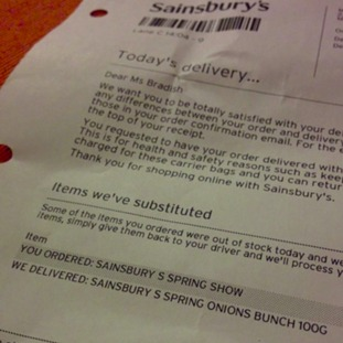 Sainsbury letter