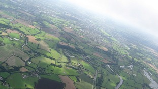 A449, River Severn, Worcester in the distance