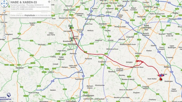 Adam created this google map to show the route of the flight