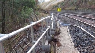 The track was damaged by a landslip.