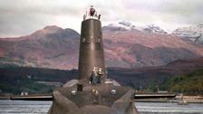The Royal Navy's 16,000 ton Trident-class nuclear submarine Vanguard.