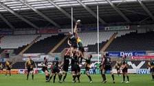 Ospreys playing at Liberty Stadium