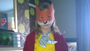 Zara Connolly (8) as Fantastic Mr Fox