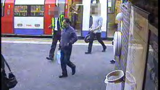 CCTV still of Dr Farooq&#x27;s movements on 16th September 2010.