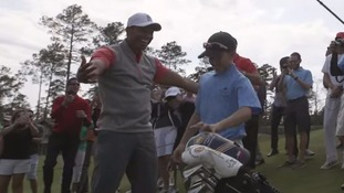 Tiger Woods stunned as 11-year-old boy hits hole-in-one on new golf course