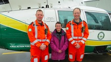 Paramedic Andy Dalton, Liza McCarron and Theo Weston.