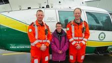 Paramedic Andy Dalton, Liza McCarron and Theo Weston.