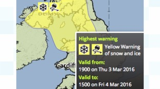Weather warnings are in place.