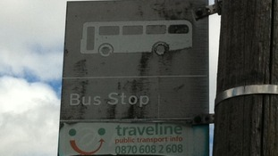 The bus stop in the village of Fenny Drayton
