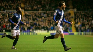 Birmingham City's Jon Toral celebrates scoring his sides first goal of the match
