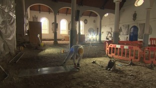 Ancient bones unearthed in a Plymouth church