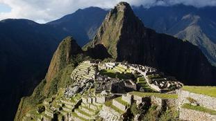 Peru's famous Machu Picchu ruins