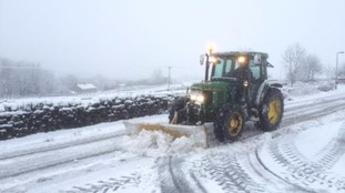Roads being cleared near Todmorden