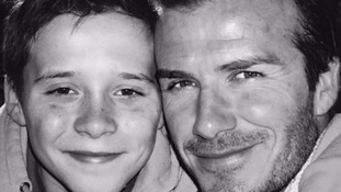 David Beckham bursting with pride for birthday boy Brooklyn