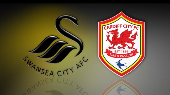 Swansea and Cardiff badges